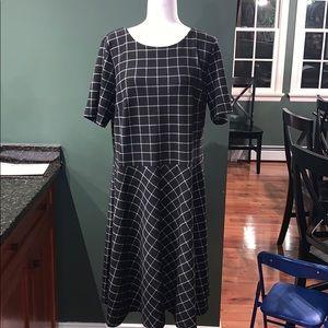 Eloquii Dresses - BNWOT Eloquii Windowpane Fit and Flare Dress